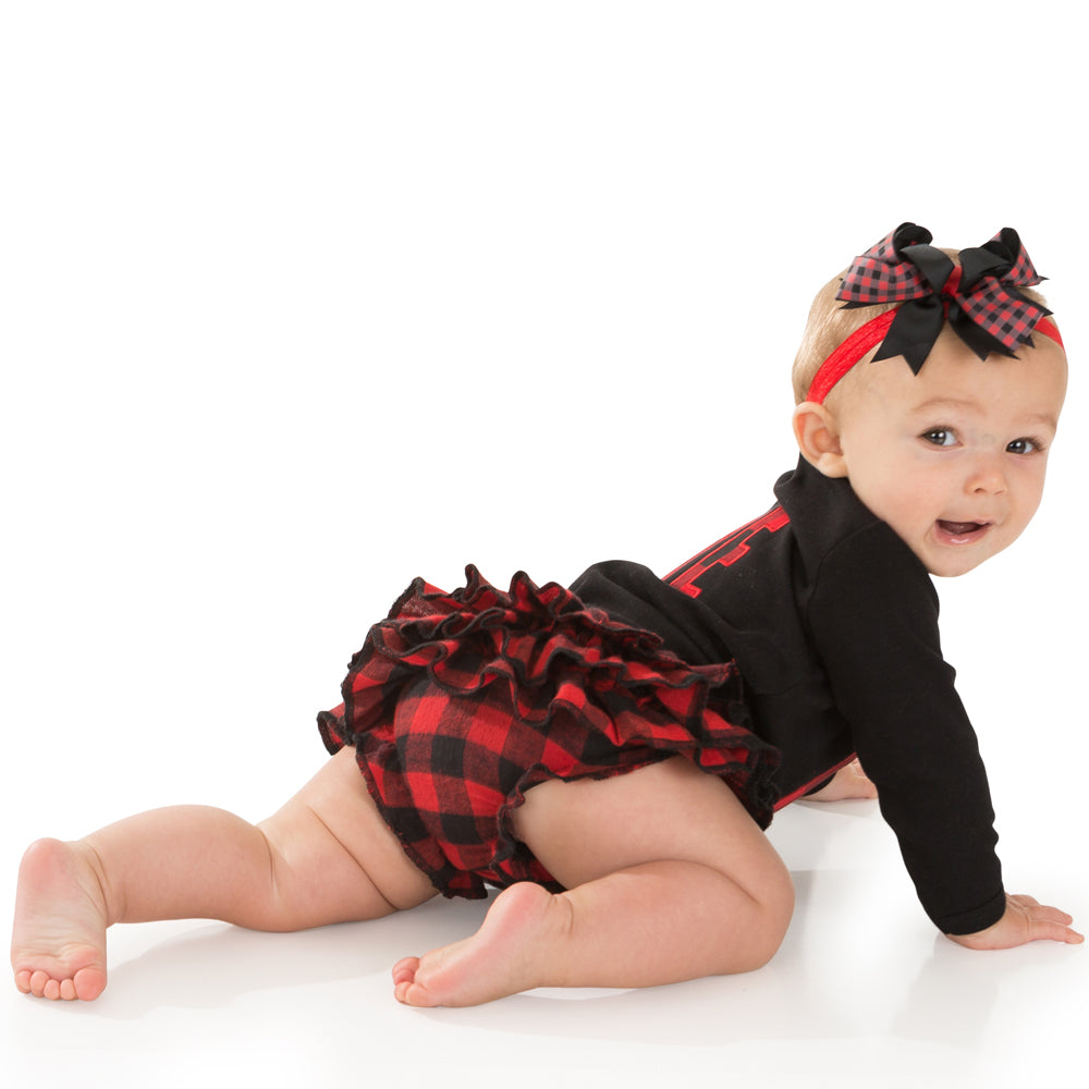 Red Buffalo Plaid Tutu Diaper Cover