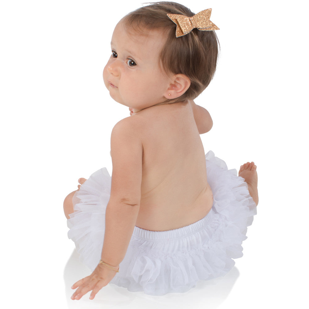 White Chiffon Tutu Diaper Cover