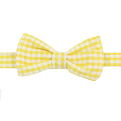 Yellow Checkered Bow Tie