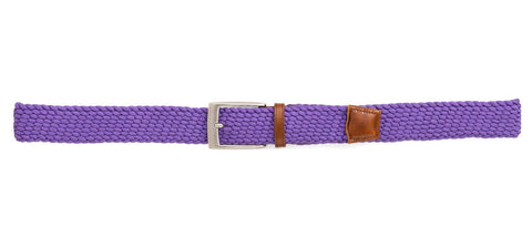 Braided Stretch Belt ~ Purple