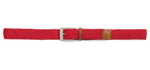 Braided Stretch Belt ~ Red