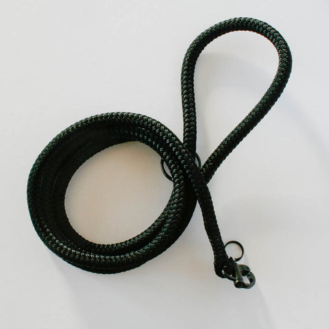 Solid Leash Black | Petite Dog