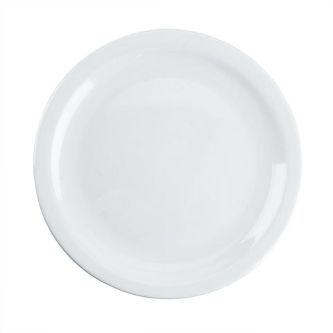 Arcoroc Hotelier White Dinner Plate Narrow Rim - 10""