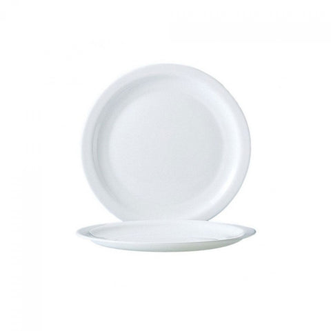Arcoroc Hotelier White Side Plate Narrow Rim - 7.5""