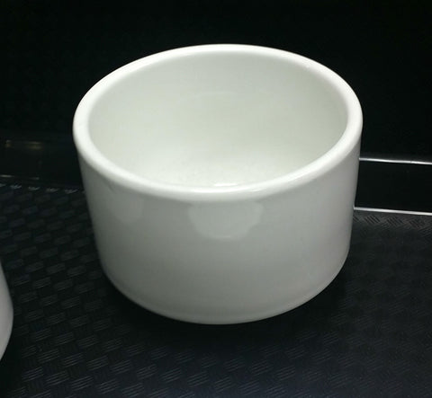 Comcor White Cup No Handles - 9 oz Stackable