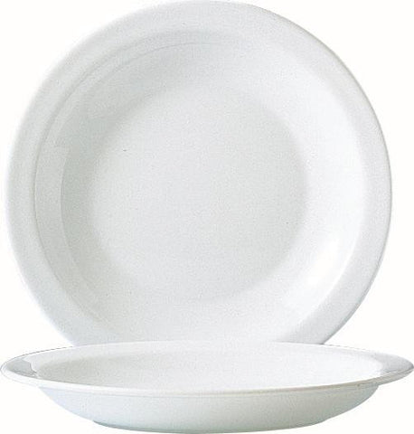 Arcoroc Hotelier White Soup Plate - 7.75""
