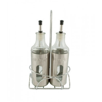 Spice Paradise 2 Piece Set with Holder Oil and Vinegar