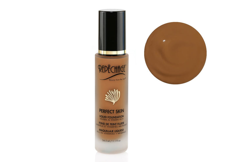 Perfect Skin Liquid Foundation Golden Deep tone (PS10)