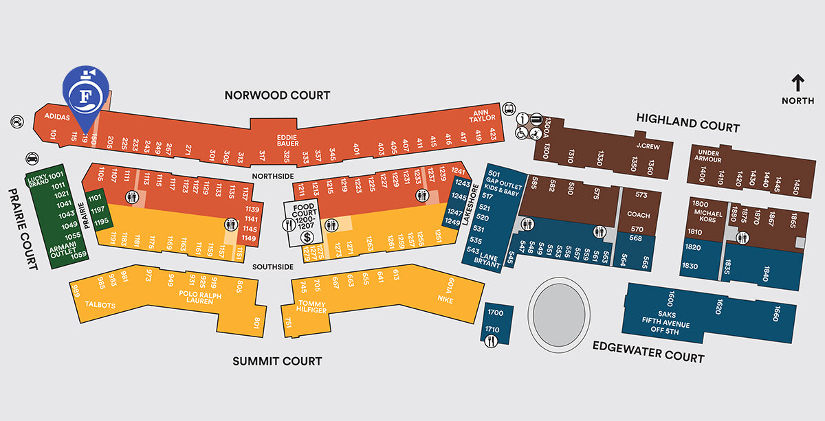 27ab06762a13c2 Chicago Premium Outlets Map