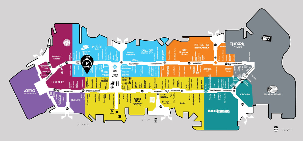 Concord Mills Map Fragrance Outlet Store Locator