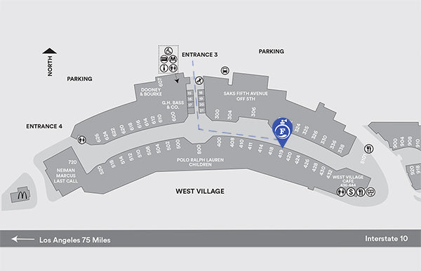 Outlet California Map.Fragrance Outlet Fragrance Outlet At Desert Hills Premium Outlets