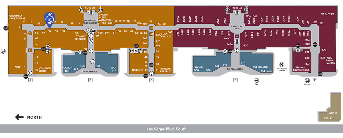 Fragrance Outlet Perfumes At Best Prices Las: Las Vegas Premium Outlets South Map At Infoasik.co