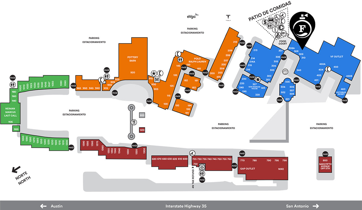 Outlet California Map.Fragrance Outlet Fragrance Outlet At San Marcos Premium Outlets