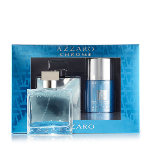 Chrome Gift Set Eau de Toilette and Deodorant for Men by Azzaro 1.7 oz.