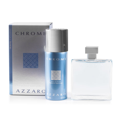 Chrome Eau de Toilette and Deodorant Gift Set for Men by Azzaro 3.4 oz.