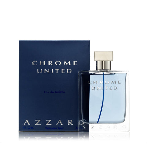 Azzaro Chrome United Eau de Toilette Mens Spray 3.4 oz.