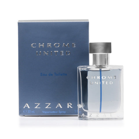 Chrome United Eau de Toilette Spray for Men by Azzaro 3.4 oz.
