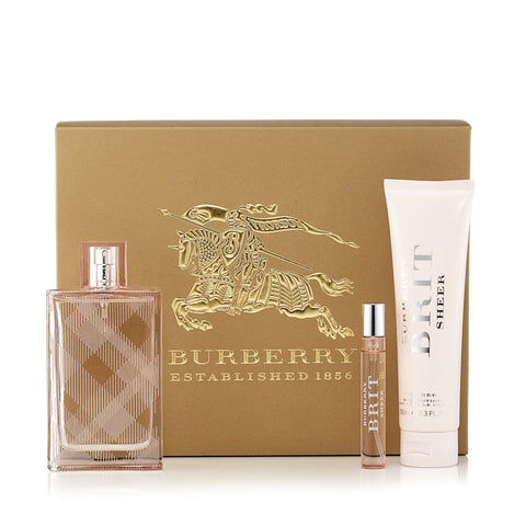 Brit Sheer Gift Set for Women by Burberry 3.3 oz