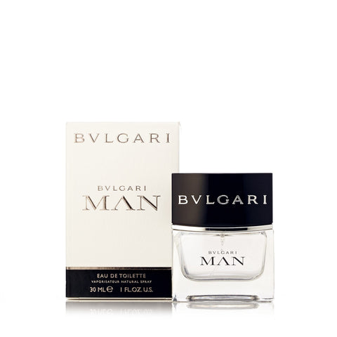 Man Eau de Toilette Spray for Men by Bvlgari 1.0 oz.
