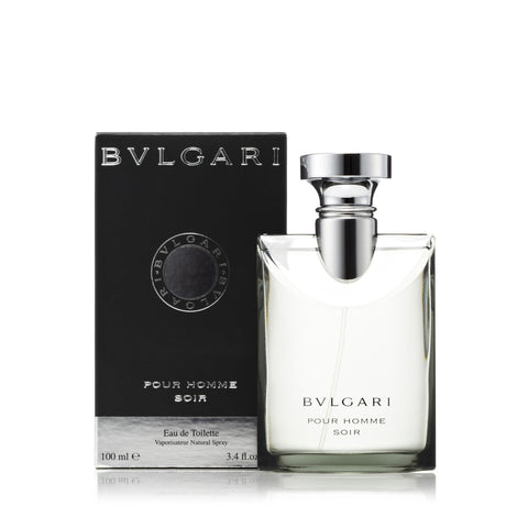 Bvlgari Soir Eau de Toilette Mens Spray 3.4 oz.