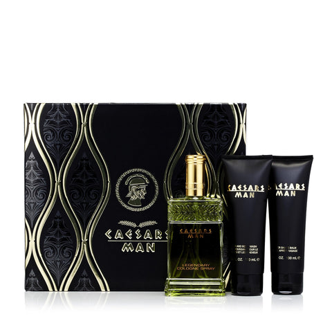 Man Set Cologne, After Shave and Body Wash for Men by Caesar's 4.0 oz.