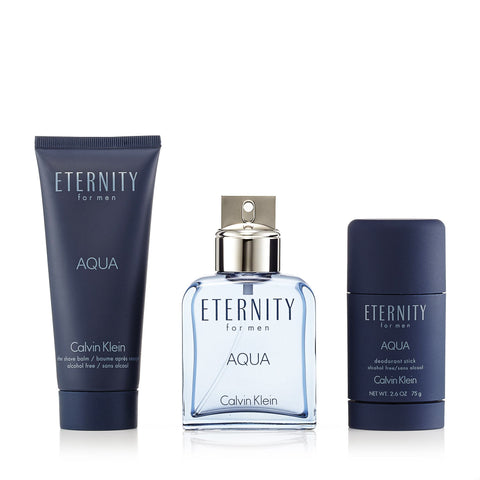 Eternity Aqua Gift Set for Men by Calvin Klein 3.4 oz.