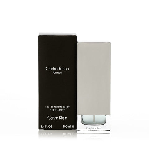 Contradiction Eau de Toilette Spray for Men by Calvin Klein 3.4 oz.