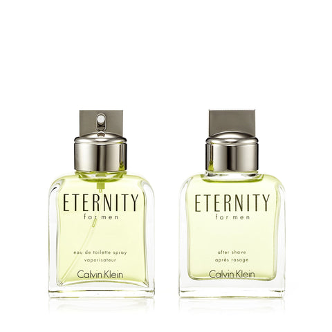 Eternity Eau de Toilette Spray and After Shave for Men by Calvin Klein 3.4 oz.