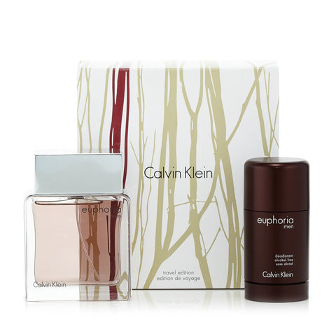 Euphoria Gift Set Eau de Toilette and Deodorant for Men by Calvin Klein 3.4 oz.