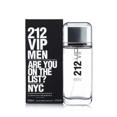 212 Vip Men Eau de Toilette Spray for Men by Carolina Herrera 6.7 oz.