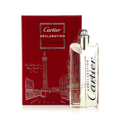 Declaration Limited Edition Eau de Toilette Spray for Men by Cartier 3.3 oz.