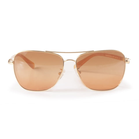 Gold Aviator Sunglasses by Coach