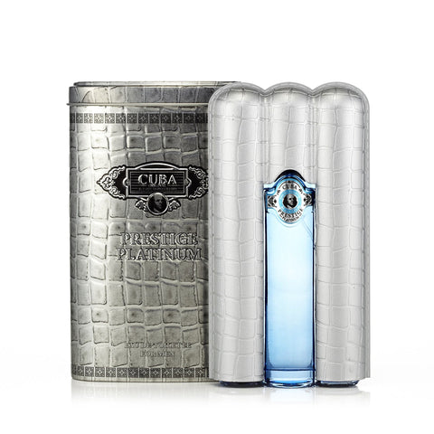 Prestige Platinum Eau de Toilette Spray for Men by Cuba 3.3 oz.