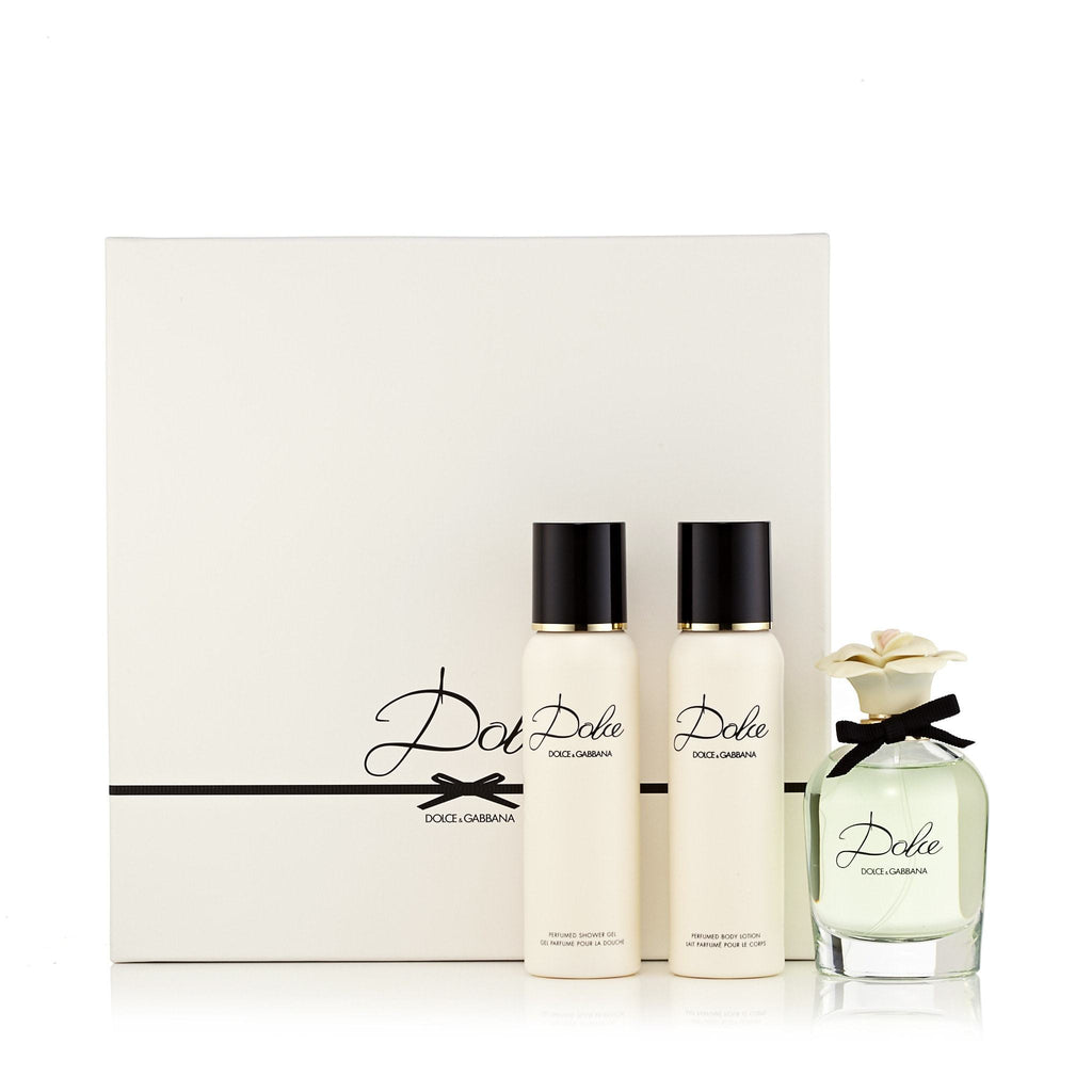 Dolce Gift Set Eau de Parfum, Body Lotion and Shower Gel for Women by D&G 2.5 oz.