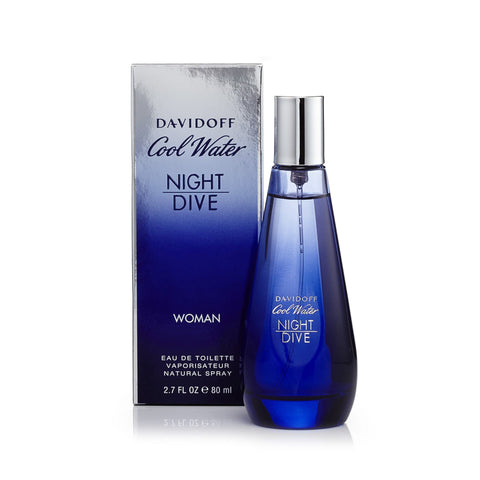 Davidoff Cool Water Night Dive Eau de Toilette Womens Spray 2.7 oz.