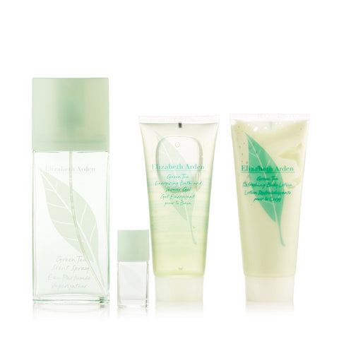 Green Tea Gift Set EDT Body Lotion Shower Gel and Mini for Women by Elizabeth Arden 3.3 oz.