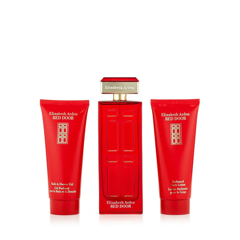 Red Door Gift Set EDT, Body Lotion and Shower Gel for Women by Elizabeth Arden 3.3 oz.