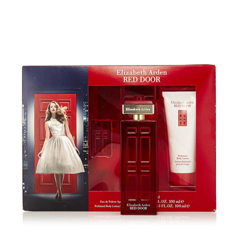 Red Door Gift Set Eau de Toilette, Body Lotion and Miniature for Women by Elizabeth Arden  3.3 oz.