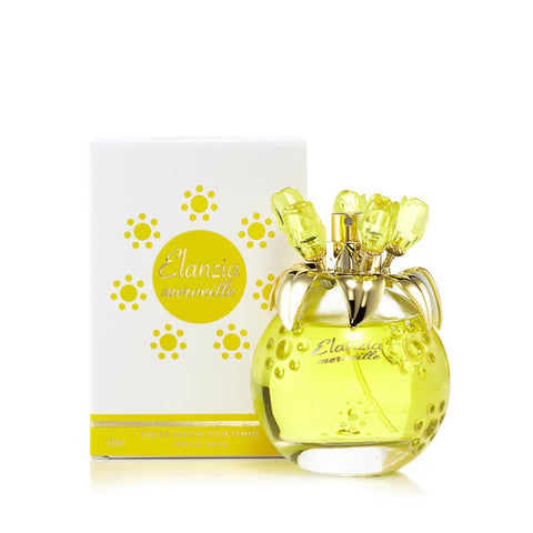 Elanzia Mervielle Yellow Eau de Parfum Spray for Women 3.3 oz.