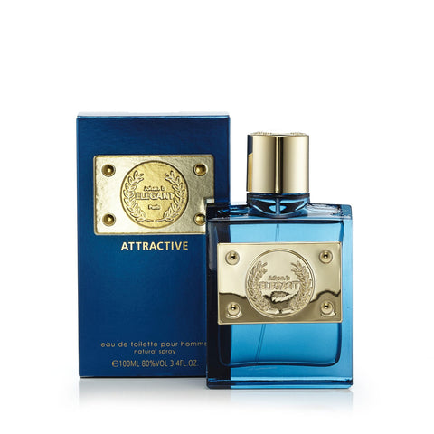 Elegant Attractive Eau de Toilette Spray for Men 3.4 oz.