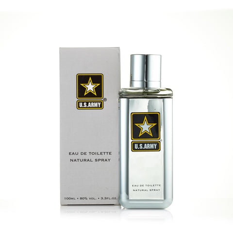 US Army Grey Box Eau de Toilette Spray for Men 3.3 oz.