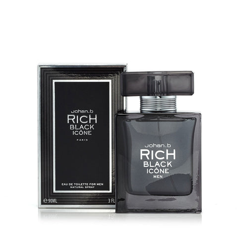 Rich Black Icon Eau de Toilette Spray for Men 3.0 oz