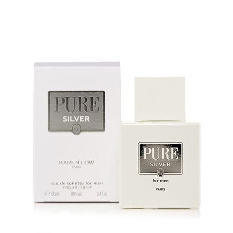 Pure Silver Eau de Toilette Spray for Men 3.4 oz.