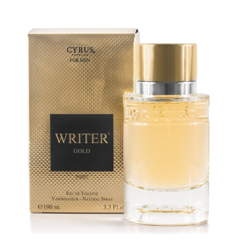 Writer Gold Eau de Toilette Spray for Men 3.3 oz.