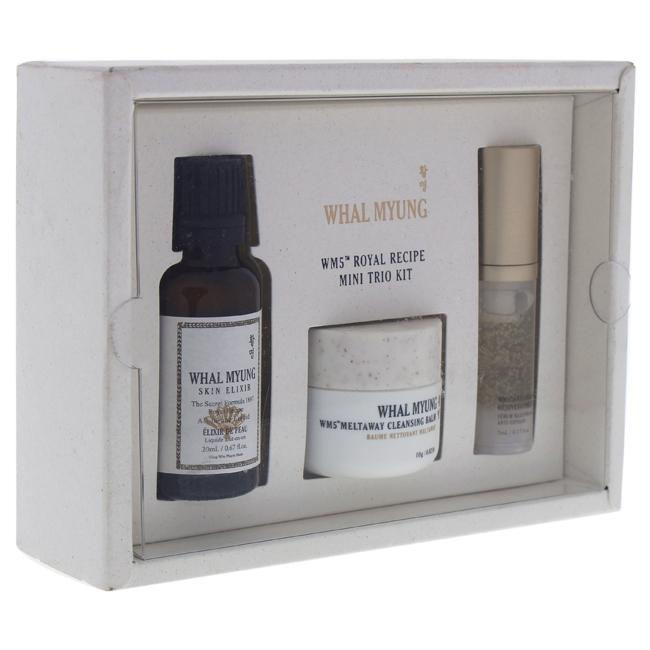 WM5 Royal Recipe Mini Trio Kit by Whal Myung for Women - 3 Pc 0.67oz Skin Elixir, 0.35oz Cleansing Balm, 0.17oz Rejuvenating Serum
