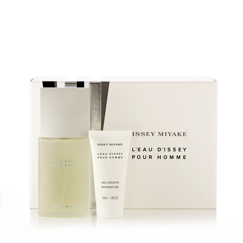 L'Eau Dissey Gift Set Eau de Toilette Shower Gel and Toiletry Bag for Men by Issey Miyake 2.5 oz.