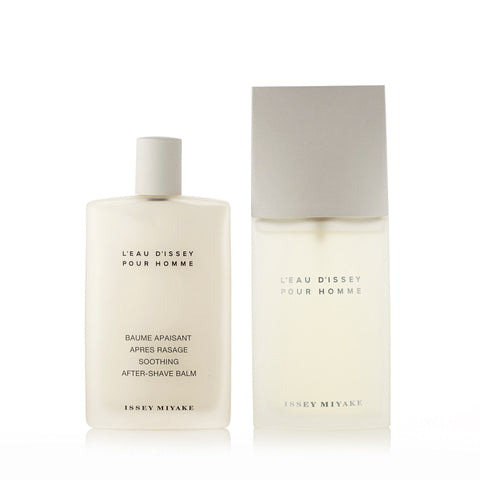 L'Eau Dissey Gift Set Eau de Toilette and After Shave Balm for Men by Issey Miyake 4.2 oz.
