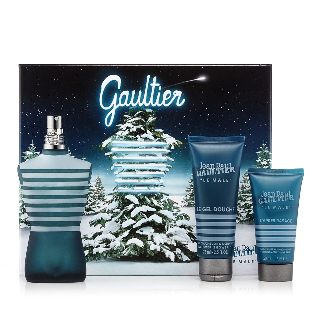 Jean Paul Gaultier Gift Set EDT, Shower Gel and After Shave Balm for Men by Jean Paul Gaultier 4.2 oz.