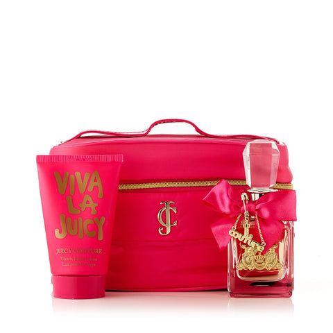 Viva La Juicy Eau de Parfum Body Lotion and Bag Gift Set for Women by Juicy Couture 1.7 oz.