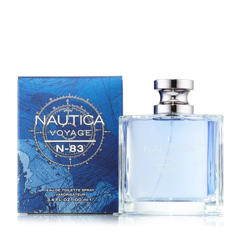 Voyage N-83 Eau de Toilette Spray for Men by Nautica 3.4 oz.